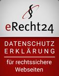 erecht24 siegel datenschutz rot